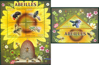 Congo - Bees - MNH set of 4val sheet and souvenir sheet