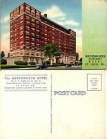 Vintage Postcard St Louis Missouri Gatesworth Hotel Colortone Unposted 1f