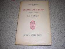1933.quatre ans à Pékin / Comte de Semallé.Tonkin Chine.lettre autographe