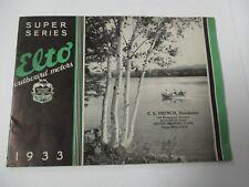 1933 ELTO Outboard Motors Super Series Catalog