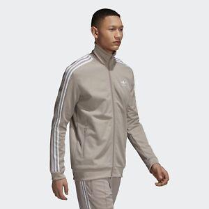 MENS Adidas Originals Beckenbauer Vapour Grey OG Track Top Jacket Full Zip