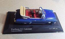 43015932  MINICHAMPS 1:43 SCALE ~ WARTBURG 311/2 CABRIOLET 1959 ~ BLUE