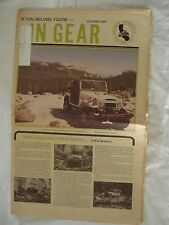 In Gear October 1990. Official Publication California Association of 4wd Clubs