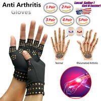 Copper Compression Arthritis Gloves Hands Therapy Support Sleeves Pain Relief