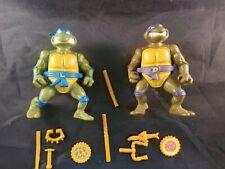 Teenage Mutant Ninja Turtles Storage Shell Leo & Don 1990 Playmates Vintage