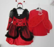 Girls lady bird, ladybug  costume. Complete outfit aged  7-10 years.