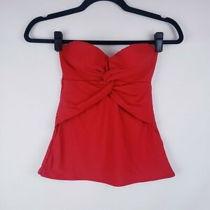 Ann Taylor Loft Beach Womens Tankini Top Red Size XS New Removable straps