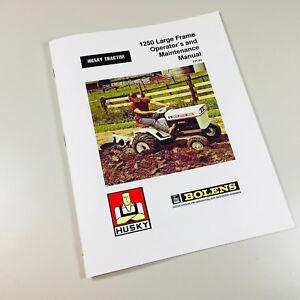 BOLENS HUSKY 1250 LARGE FRAME LAWN GARDEN TRACTOR OPERATORS MANUAL BOOK 197-01