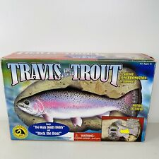 Vtg 1999 Travis The Singing Trout Gemmy Animated Fish Wall Mount New Open Box