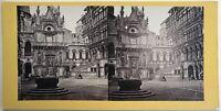 Palazzo Ducale Venezia Italia Fotografia Stereo Vintage Albumina