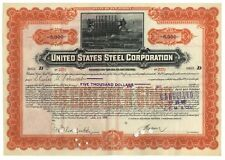 HIGHLY DESIRABLE U.S. STEEL CORP. BOND ISSUED TO CHARLES M. SCHWAB