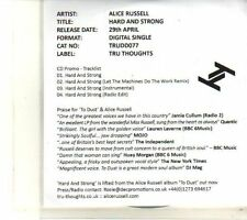 (DT256) Alice Russell, Hard And Strong - 2013 DJ CD
