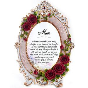 Memorial Mum Personalised Gift Frame - Missing You, In Loving Memory, RIP