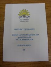 29/11/2016 Sun Sports v Welwyn Garden City [Dudley Latham Memorial Cup] . Thanks