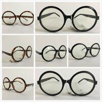 Fashion Women Round Frames Glasses Eyewear Optical Spectacle Plain Mirror