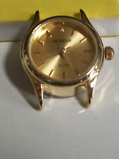 Gold finish round gold dial women's watch face movement  for watches