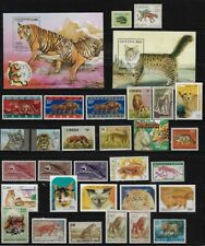 Worldwide: Felines; Lot of 40 different, mint, good stamps, EBWW029