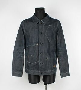 G-Star Slim Tailor Handcrafted Selvage Men Deniom Jacket Size Runs M, Genuine