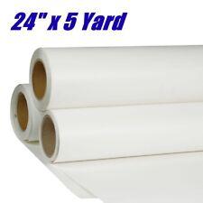 "24"" x 5 Yards PU Heat Transfer Vinyl Roll T-shirt HTV Iron on White Printable"