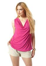Buffalo Top Tank Shirt Blouse Tunic T-Shirt Pink Viscose 693501