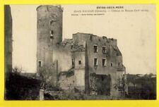 """cpa FRENCH CASTLE 33 - RAUZAN (Gironde) CHÂTEAU FORT Médiéval """"Entre deux Mers"""""""