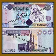 Libya 1 Dinar, ND 2009 P-71 Muammar Gaddafi Unc