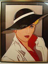 "1988 Author A. Kaplan L-4952 ""Lady in White"" by Hierro Fashion Print"