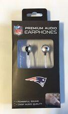 New England Patriots iHip Premium Audio Earphones Earbuds - iPhone iPod NEW