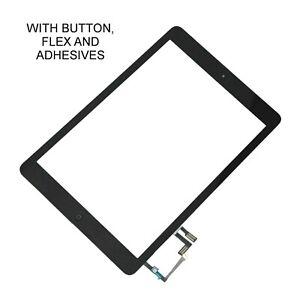 For iPad Air 1st Gen Lens Touch Screen Digitizer Glass Black + Home Button