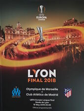 2018 EUROPA LEAGUE FINAL ATLETICO MADRID v MARSEILLE OFFICIAL MINT PROGRAMME