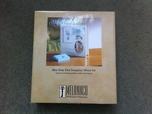 NEW BABY'S FIRST FOOTPRINT ALBUM SET BY MELANNCO (BLUE)  baby