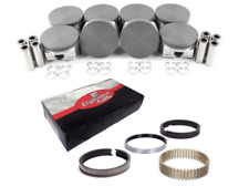 Coated Skirt Flat Top Pistons w/ Moly Rings for 2005-2009 Chevrolet 5.3L