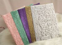 1-50pc Wedding Invitation Card Personalized Laser Cut Romantic Party Floral Lace