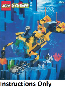 INSTRUCTIONS ONLY LEGO CRYSTAL EXPLORER SUB 6175 Aquazone manual book from set