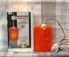 Hampton Bay Dimensions Fire Orange Glass Track Light Pendant E204150 NEWUNTESTED