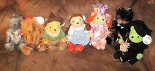 """Wizard Of Oz Cuddle Factory Plush 13"""" Teddy Bear WHOLE SET! LION, WITCH, TOTO..."""