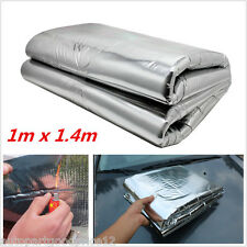 Car Exhaust Turbo Heat Shield Wrap Fiberglass Cotton Mat Heat Barrier 1m x 1.4m
