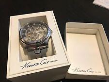 Kenneth Cole New York KC3828 Men's Automatic Skeleton Watch Steel Bracelet