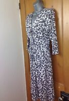 Phase Eight Womens Dress Size 12 Taupe Print Knee Length 3/4 Sleeves