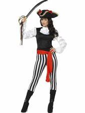 Womens Ladies Caribbean Buccaneer Treasure Pirate Fancy Dress Costume Outfit