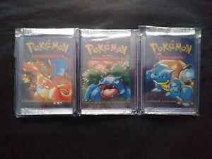 Lot of 3 *LIGHT* Pokemon Base Unlimited SPANISH Sealed Booster Pack SET