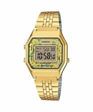 NEWEST Casio LA680WGA-9C Women Mid-Size GOLD Digital Retro Vintage Watch FLORAL