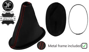 RED STITCH LEATHER SHIFT BOOT+METAL FRAME FOR DAIHATSU SIRION 2005-2011