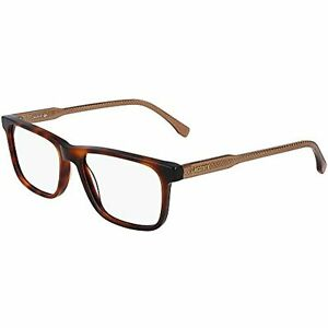 NEW LACOSTE L2852 220 Red Havana Eyeglasses 55mm with Lacoste Case
