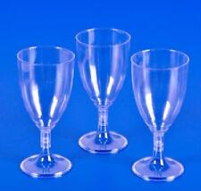 25 PLASTIC WINE GLASSES 8 oz Wedding Party Cups Disposable NEW!! Free Shipping