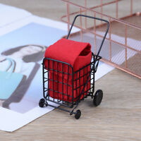 1:12 DollHouse miniature dollhouse furniture mini shopping cart modelI