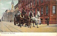 c.1910 Fire Engine Co. Manhattan NY poscard