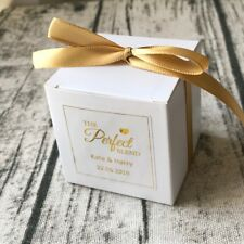 40 Wedding Personalised Favour Boxes Wedding Thank You White Gift Boxes Stickers