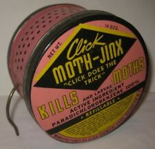 Old 1950s Tin Advertising MOTH-JINX Kills Bugs Brooklyn New York