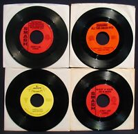 JERRY LEE LEWIS-Lot Of 4 Radio Station 45's-Rockabilly